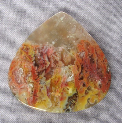 Feather Ridge Plume Agate Cab